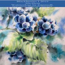 Blackberries I 2019 (27) / 30x40cm Watercolour by ©janinaB.