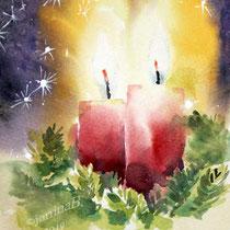 Advent-II-2019 (O4) /18x24cm Watercolour by ©janinaB.