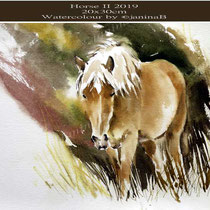 Horse II 2019 (O4) / 20x30cm Watercolour by ©janinaB