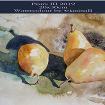 Pears III 2019 (O4) / 20x30cm Watercolour by ©janinaB
