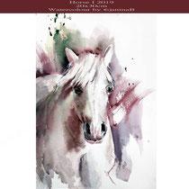 Horse I 2019 (O4) / 20x30cm Watercolour by ©janinaB