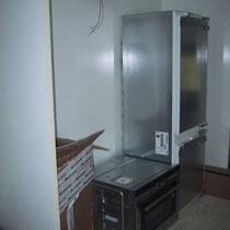 Kühlschrank und Backofen