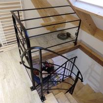 garde corps de trémie et rampant d'escalier
