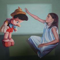 <b>Inocencia</b>: Acrílico sobre lienzo 1,80x1,70