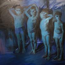 <b>Blue Boys</b>: Oleo sobre lienzo 1,70x1,70