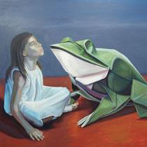 <b>El Cuento</b>: Acrílico sobre lienzo 1,80x1,70