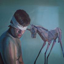<b>La Canción del Unicornio</b>: Acrílico sobre lienzo 1,80x1,80