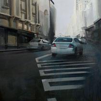 <b>Subida a Gran Vía</b>: Oleo sobre lienzo 1,46x1,14