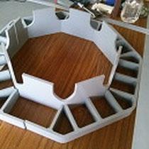 塩ビ曲げ加工 メッキ槽電極支持部品