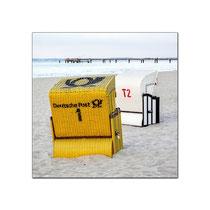 Der erste Briefkasten am Strand