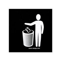 Abfall hier einschmeißen