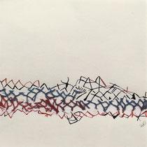 Gabriele Keil-Haack, Netz und Tusche, 20 x 20 cm, Preis: 40€, weitere Arbeiten auf Anfrage