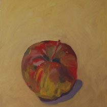 Franziska Lankes, Apfel, Öl auf Malplatte, 24x30cm, 150,-€   VERKAUFT