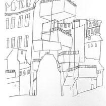 2. Horizontuntersuchungen II / die Lücke füllen, Bleistift auf Papier, 50 cm x 70 cm, Preis Weihnachtsangebot: 200 € (VERKAUFT) weitere auf www.luziarux.com