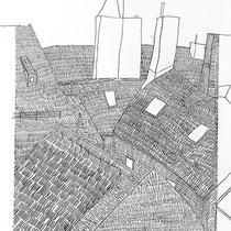 4.  Horizontuntersuchungen II / den Horizont stapeln No. 8, Bleistift auf Papier, 50 cm x 70 cm, Preis Weihnachtsangebot: 200 € weitere auf www.luziarux.com