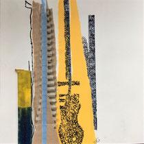 Gabriele Keil-Haack, Pappstreifen, Tusche auf Papier, 20 x 20 cm, Preis: 40€, weitere Arbeiten auf Anfrage