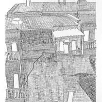 5.  Horizontuntersuchungen II / den Horizont stapeln No. 9, Bleistift auf Papier, 50 cm x 70 cm, Preis Weihnachtsangebot: 200 € weitere auf www.luziarux.com