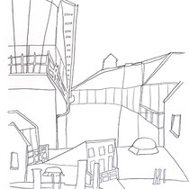 3.  Horizontuntersuchungen II / den Horizont stapeln No. 6, Bleistift auf Papier, 50 cm x 70 cm, Preis Weihnachtsangebot: 200 € weitere auf www.luziarux.com