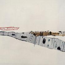 Gabriele Keil-Haack, Pappstreifen, Tusche auf Papier, DIN A4, Preis: 60€