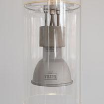 André Hasberg,  Pendelleuchte, H12cm x Dm7,5cm, citrá 6-230, Borosilikatglas     250,-€