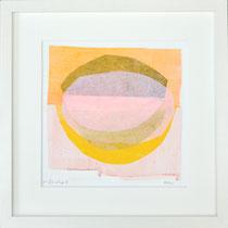 Monika Reinhart, 2020, lasiertes Papier geschichtet, gerahmt, 30 x 30 cm, Preis: 180 €