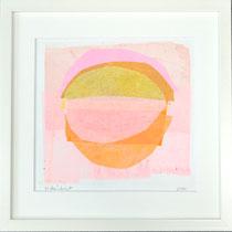 Monika Reinhart, 2020, lasiertes Papier geschichtet, gerahmt, 30 x 30 cm, 180 €
