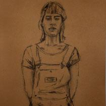 Michael Knogler, Zeichnung, Kohle auf Papier, 50x35cm Preis 80.-€