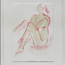 rotgrün                 Aquarell      Maya Franzen     gerahmt    40 x 50 cm,   150 €