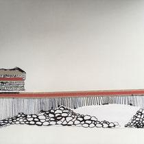 Gabriele Keil-Haack, Pappstreifen, Tusche auf Papier, DIN A4, Preis: 60€, weitere Arbeiten auf Anfrage