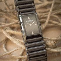 Uhrenarmband Edelstahl schwarz beschichtet