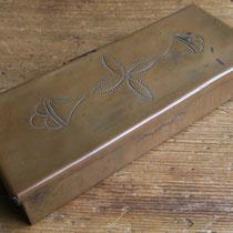 """4262 Pueblo copper box c.1930-50 2.5x6.25x1"""" $450"""