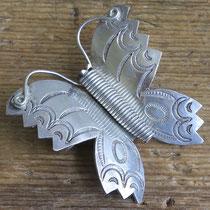 "3548 Navajo Butterfly Pin Zuni Trading Post c.1930-60 2x2"" $250"