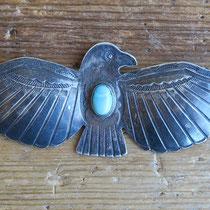 "4786 Navajo Thunderbird Pin c.1930-50 3.75"" $250"