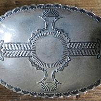 """1844 Navajo Ash Tray w/bow/arrow hallmark Ike/Katherine Wilson c.1930-60 2x3.5"""" $295"""