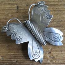 "1397 Navajo Butterfly Pin Zuni Trading Post c.1930-60 2.125x2"" $250"