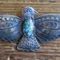 """4830 Navajo Thunderbird pin c.1930-50 2.75x1.25"""" $250"""