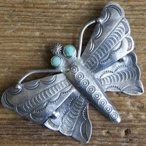 "4871 Navajo Butterfly Pin c.1950-60 2.5x1.825"" $250"