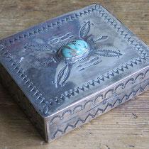 """5404 Navajo Cigarette Box c.1930 1x2.5x3.25"""" $750"""