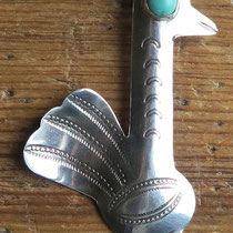 "4444 Navajo bird pin c.1930-50 2x1.25"" $150"