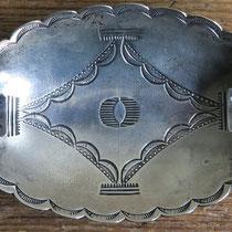"""2330 Navajo Ash Tray w/bow/arrow hallmark Ike/Katherine Wilson c.1930-60 2.3.5"""" $295"""
