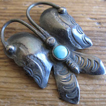"3356 navajo butterfly pin c.1960 1.125x1.5"" $95"