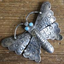 "4327 Navajo Butterfly Pin c.1950-60 2.5x1.75"" $250"