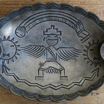"1720 Navajo Tray w/Knifewing Attributed to Ike Wilson c.1930s 2.5x4.375"" $495"