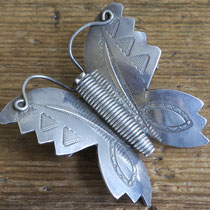 "1698 Navajo Butterfly Pin Zuni Trading Post c.1930-60 2x2"" $250"