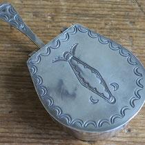 """5412 Navajo Pill Box w/handle c.1950 3x1.75x.625"""" $250"""