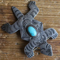 3029 navajo lizard pin c. 1950 $195