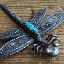 """4367 Navajo Dragonfly Pin c.1950 2x2"""" $195"""