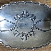 """2331 Navajo Ash Tray w/bow/arrow hallmark Ike/Katherine Wilson c.1930-60 2x3.5"""" $295"""