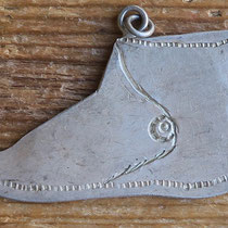 """4970 Navajo Moccasin pendant early 20th c. 1x1.75"""" $150"""