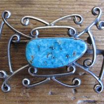"""2655 Navajo Pin c.1960 2x1.5"""" $95"""